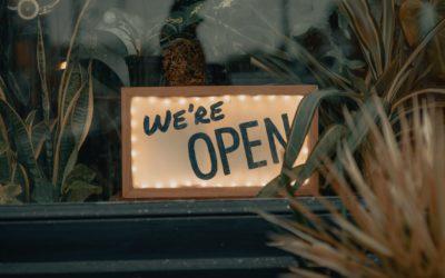 Wir haben geöffnet!